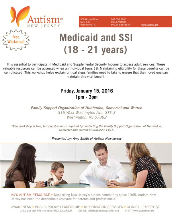 Medicaid and SSI Workshop